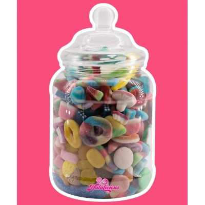 Victorian Jar PET mit 1500g Fruchtgummi-Mix