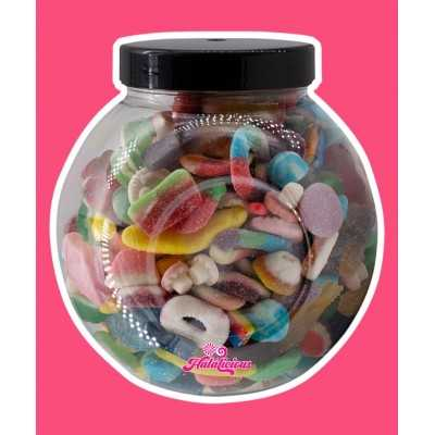 Jar PET mit 2000g Fruchtgummi-Mix